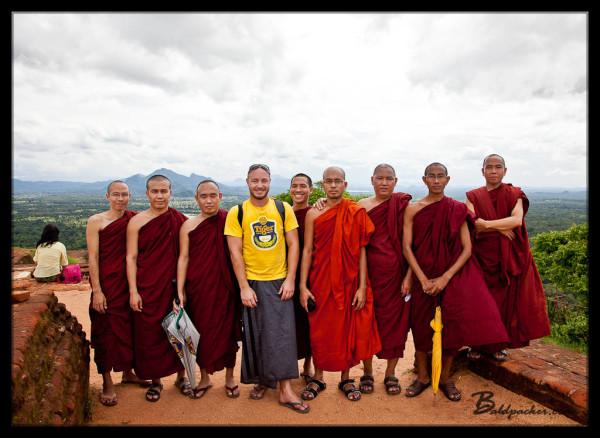 Monks and I on Sigiriya
