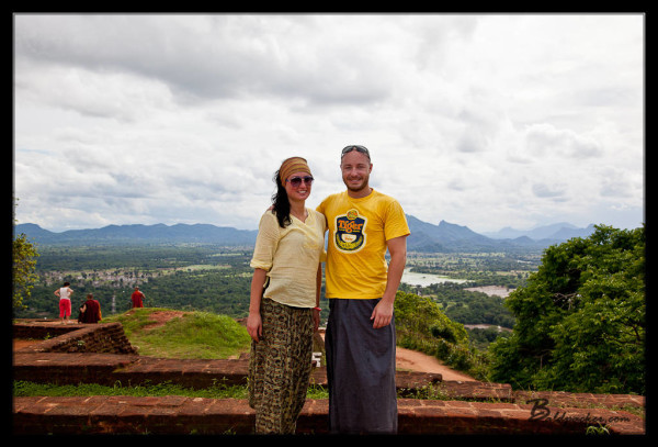 Liz and I on Sigiriya