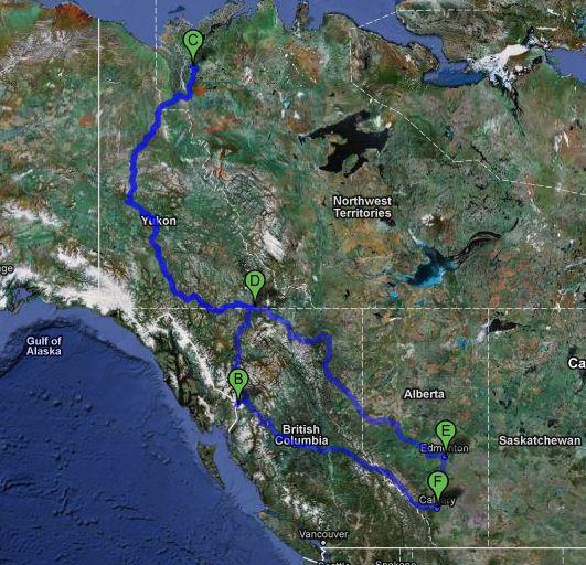 Inuvik Road Trip Map