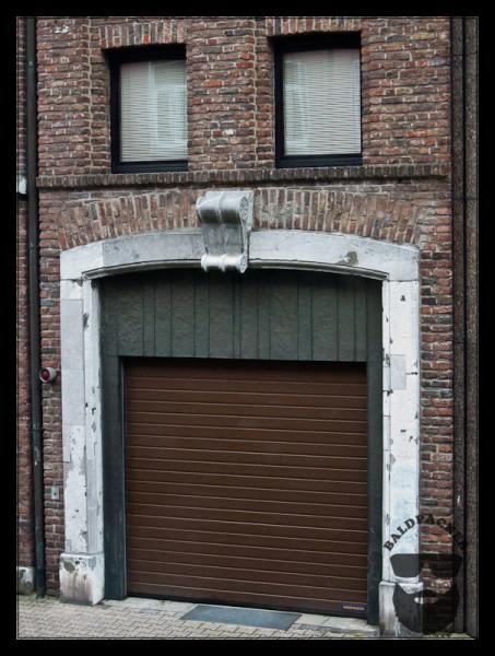 Garage Door Face in Aachen, Germany