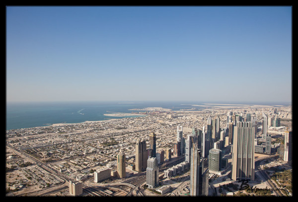 View of Sheikh Zayed from Burj Khalifa