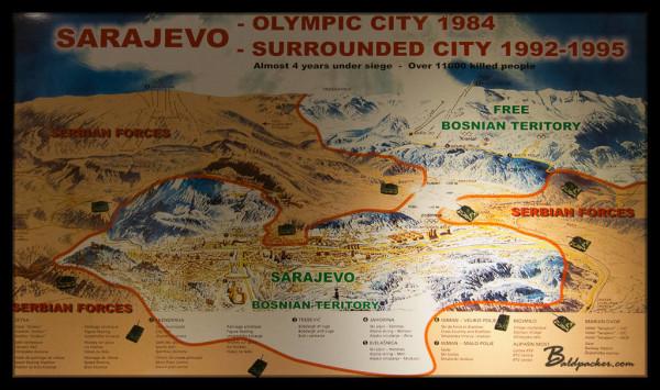 Sarajevo Olympic / Siege Map