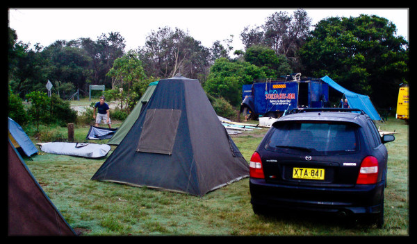 Surfing and Camping - Great Combo