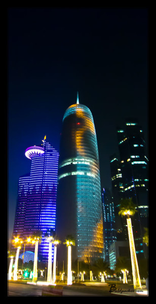 Burj Qatar at Night