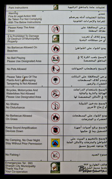 UAE = Rules, Rules, and more Rules!