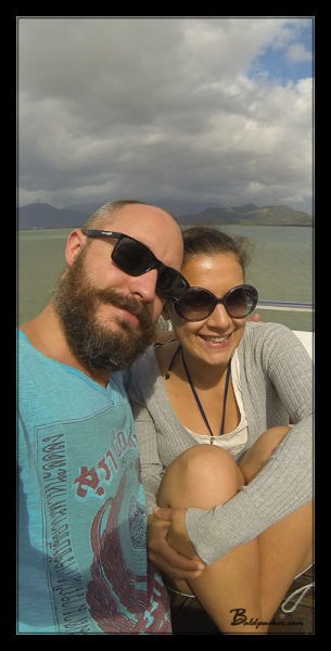Sara and I on the Boat Ride to the Great Barrier Reef