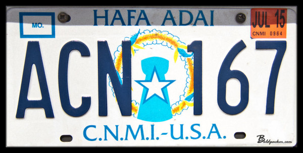Commonwealth of Northern Mariana Islands License Plate