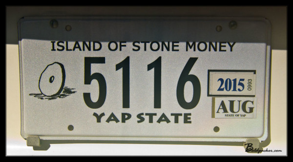 "Yap License Plate: ""Island of Stone Money"""