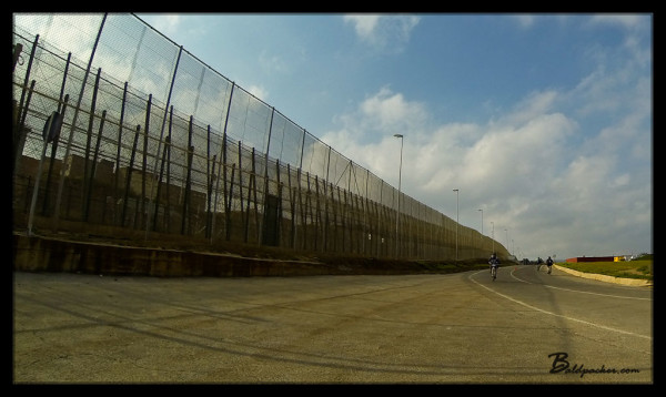 Fence Separating Melilla, Spain from Morocco