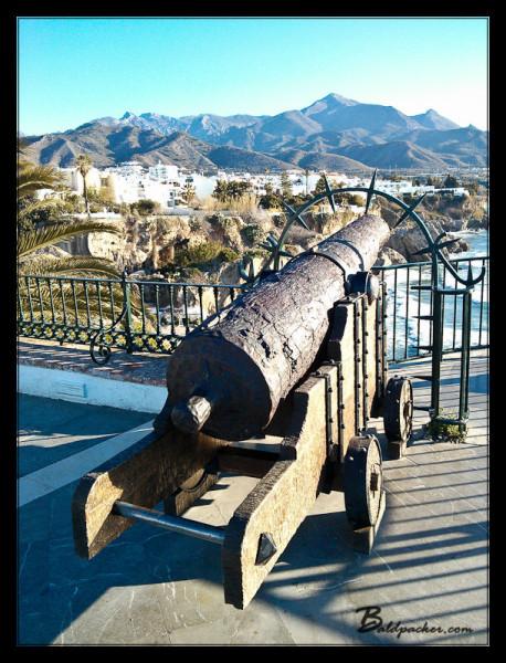 Canon on Balcon de Europa, Nerja