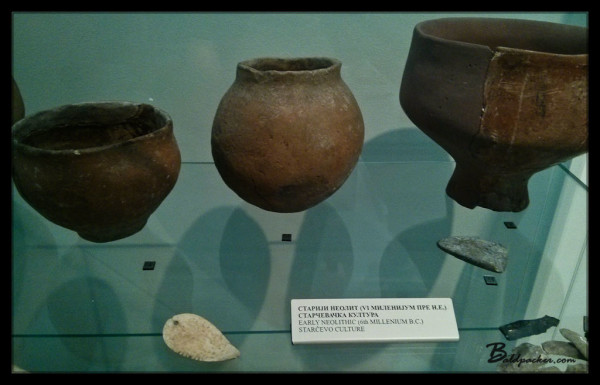 Early Neolithic Pieces in Archaeological Hall, Nis