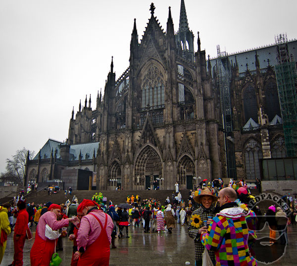 The Cologne Cathedral during Carnival