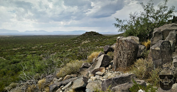 The Scraped Petroglyphs are Beautifully Artistic on the Scenic Landscape