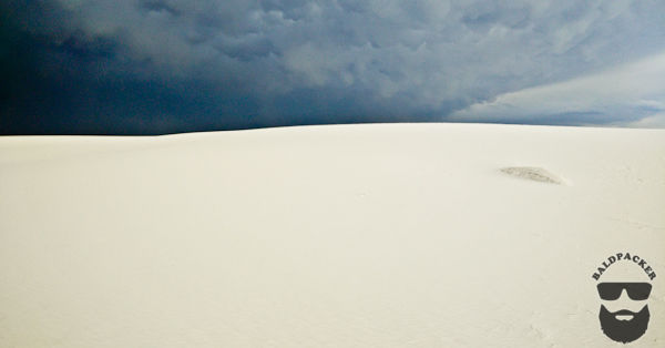 NOT Camping Weather, White Sands National Monument