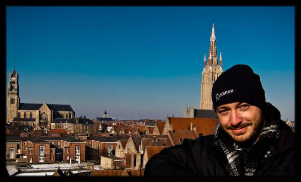 View from Bruges De Halve Maan Brewery