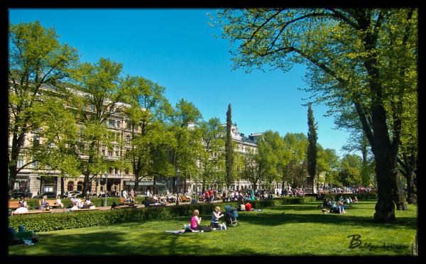 Helsinki Park in Summer