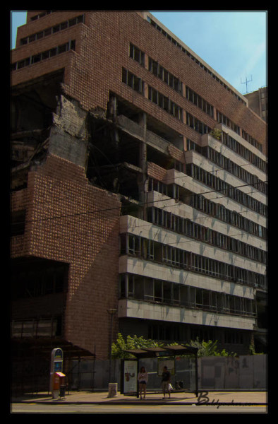 Bombed Belgrade Buidling