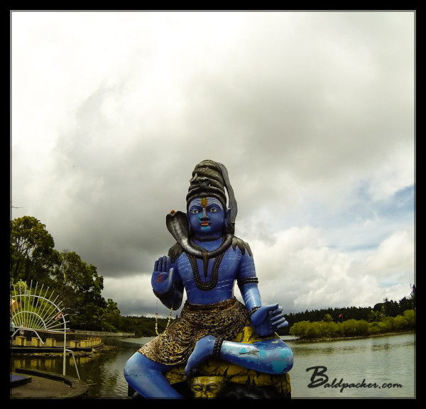 Lord Shiva Statue on Grand Bassin