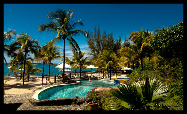 Hibiscus Beach Resort Pool and Beach