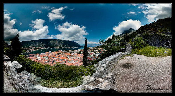 Trail up to Kotor Fortress