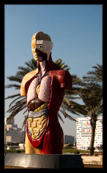 Strange Art on the Doha Corniche