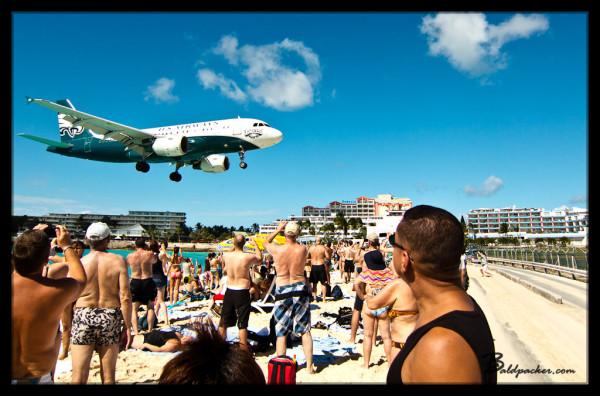 Jet Landing Over Maho Beach