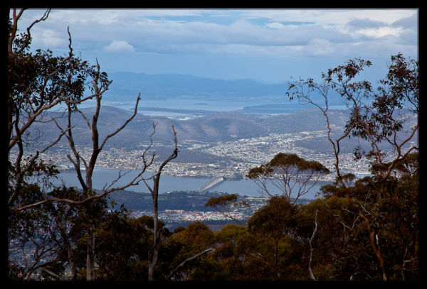 Views over Hobart from Mount Wellington