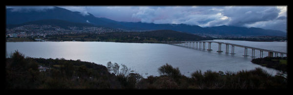 Panoramic Views of Hobart Bridge