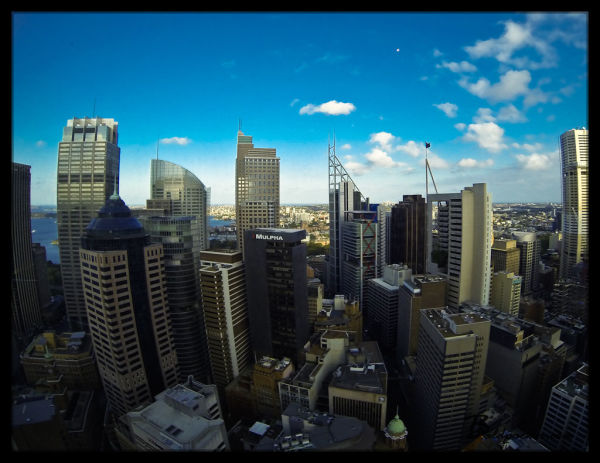 Views over Sydney from O Bar
