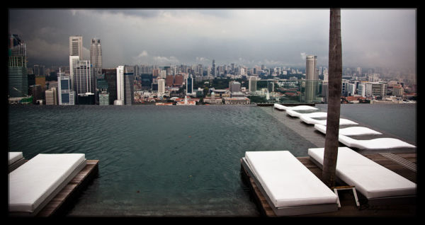 View from Marina Bay Sands Infinity Pool