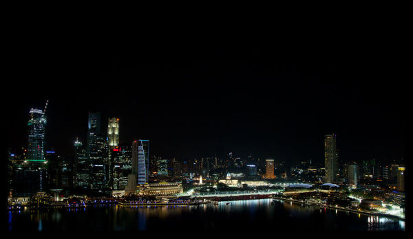 View from Marina Bay Sands Hotel Room