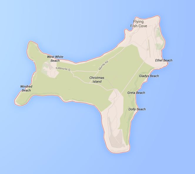 Map of Christmas Island