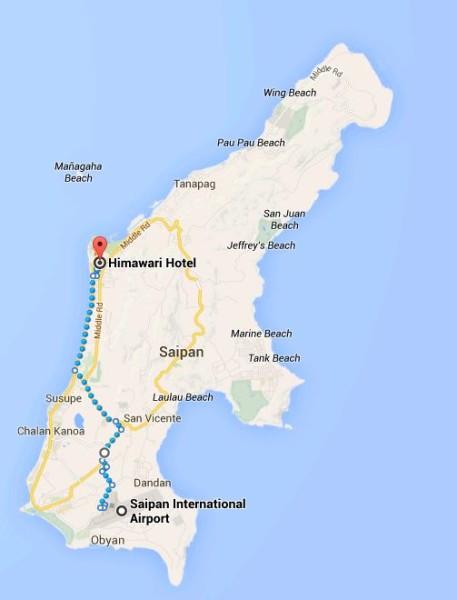 12km Walk from Saipan Airport to Garapan