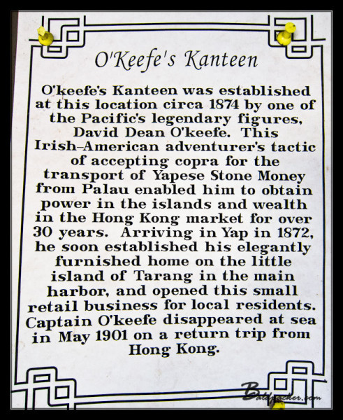 History of O'Keefe's Bar, Colonia, Yap