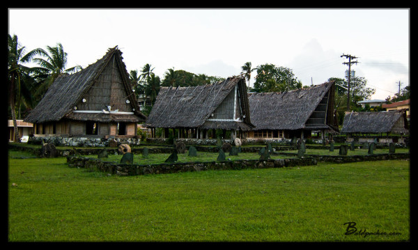 Traditional Huts in Colonia, Yap