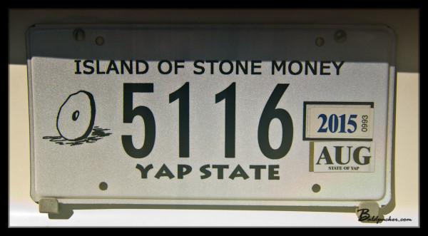"Yap License Plate: ""Island of Stone Money"""