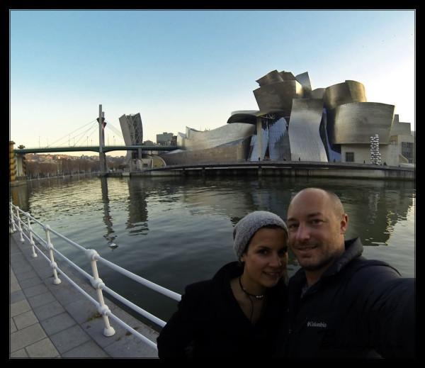 Sara and I at the Guggenheim, Bilbao
