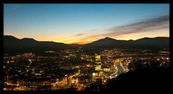 Sunset over Bilbao from Mount Artxanda