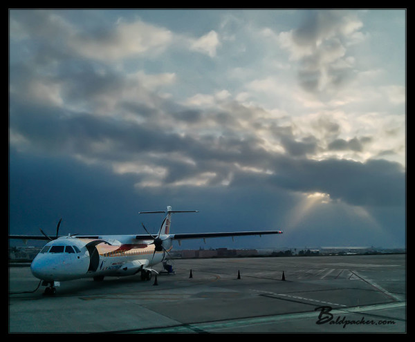 My Plane to Melilla and the Rising Sun