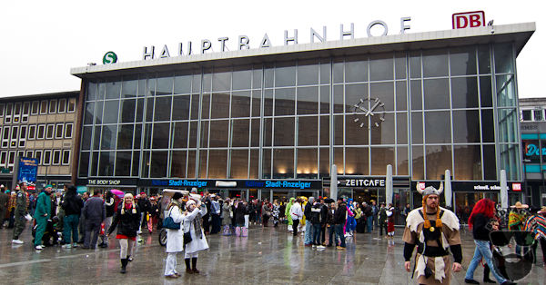 Cologne's Train Station (Hauptbahnhof or HBF) is Next to the Cologne Cathedral