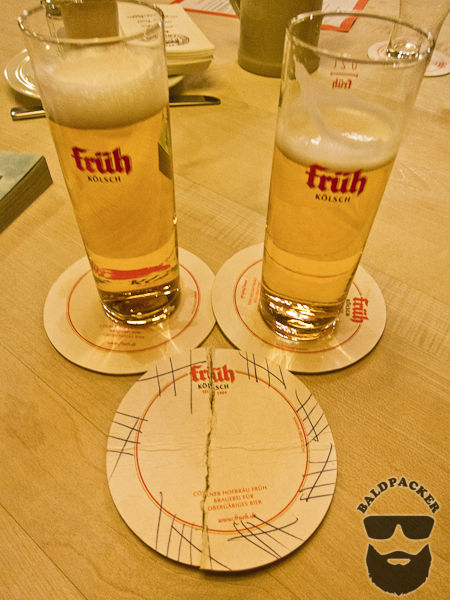 Our Kolsch and Tab (35 Beers) on a Coaster