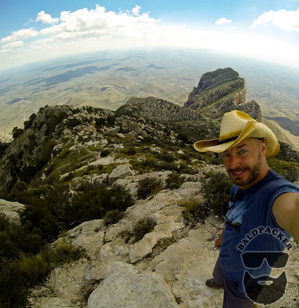 Me on Guadalupe Peak and El Capitan in the Background