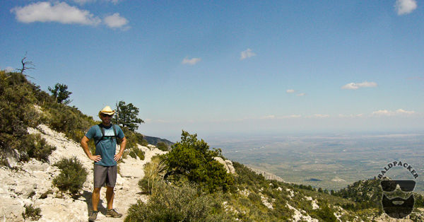 Nearing Guadalupe Mountain Summit - The Top of Texas