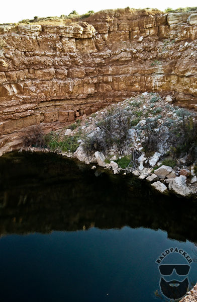 One of the Sinkhole Lakes at Bottomless Lakes State Park, NM