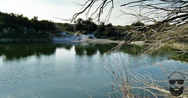 Sinkhole Lake at Bottomless Lakes State Park, NM