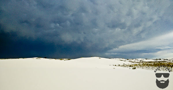 Dark Clouds and White Sands - Stunning and Deadly