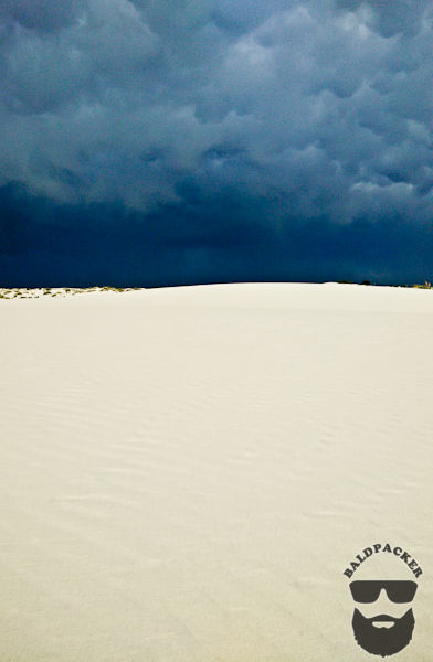 Scary Skies and Stunning Sand Dunes, White Sands National Monument