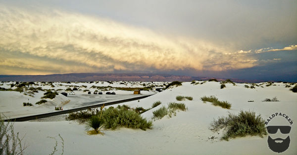 White Gypsum Sand Dunes at White Sands National Monument