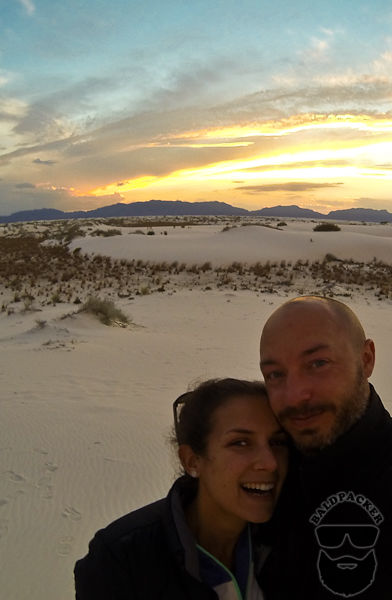 Enjoying Sunset at White Sands National Monument