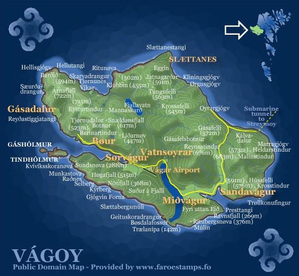 Map of Vagar